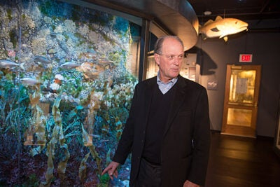 "In his talk at Harvard, oceanic explorer Robert Ballard returned to the roots of his love affair with the sea, notably an early reading of ""Twenty Thousand Leagues"" and a childhood move to San Diego."