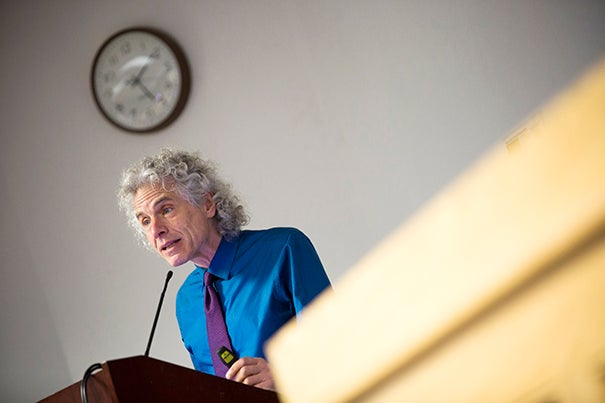 """Anyone who has followed the news knows that this doesn't appear to be a particularly peaceful time,"" said Harvard's Steven Pinker, who argued that global violence is actually on the decline."