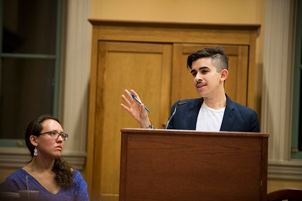 """Once incarcerated, we know that LBGT people report devastatingly high rates of sexual abuse,"" said Chase Strangio, a staff attorney with the American Civil Liberties Union's Lesbian Gay Bisexual Transgender & AIDS Project during a discussion at Harvard's Barker Center that examined efforts to protect LBGT prisoners."