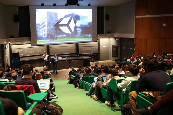 Harvard's Science Center was the starting point for HackHarvard. Sponsors of the hackathon joined the undergraduates at the event's kickoff. The 479 students were vying not only for the $12,500 in prize money, but also a chance to solve real-world problems.