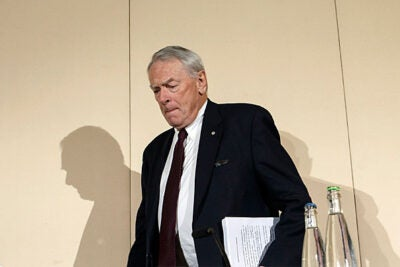 "Former World Anti-Doping Agency President Richard W. Pound (pictured), co-author of a report on the use of performance-enhancing drugs, said the current doping in Russia was ""the tip of the iceberg."" Pound presented the findings at a press conference in Geneva, Switzerland, on Monday."