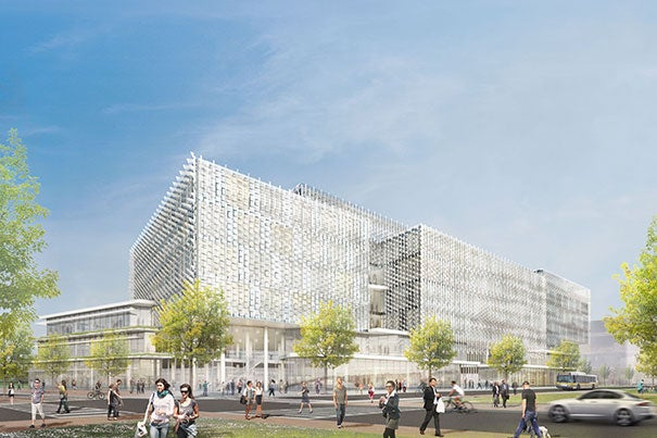 A view of the proposed Science and Engineering Complex in Allston.