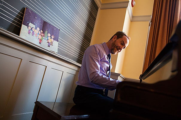 """As a boy growing up in West Virginia, Harvard's Brad Conner loved the animation of """"A Charlie Brown Christmas,"""" but it was Vince Guaraldi's music that captivated him."""