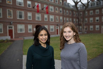 Bianca Mulaney (left) and Rebecca Panovka were named Marshall Scholars.