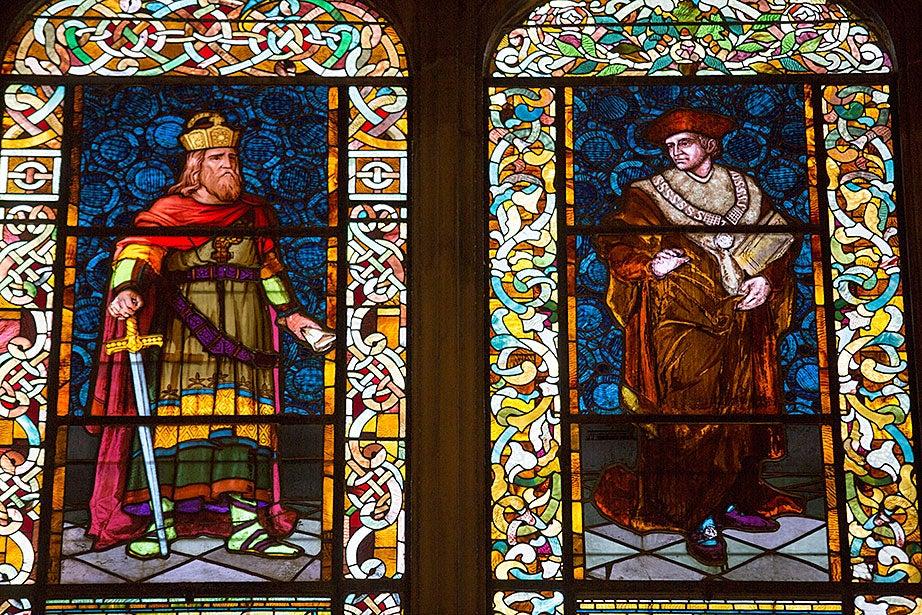 "In 1888, artist Charles Eastman created ""Charlemagne and Sir Thomas More."""