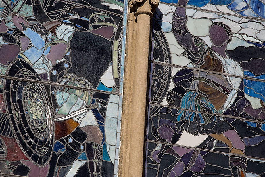 An exterior view of John La Farge's work.