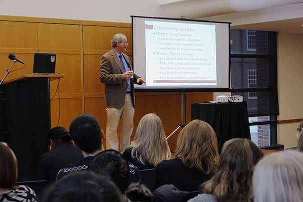 "John Dovidio, the Carl Iver Hovland Professor of Psychology at Yale University, was the guest speaker at the Faculty of Arts and Sciences' second Diversity Dialogue of the year. ""But I Don't See Color! Consequences of Racial Color-Blindness"" was held Dec. 2 at Harvard Hillel."