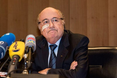 "An ethics committee barred longtime FIFA President Joseph ""Sepp"" Blatter (pictured) and Michel Platini, president of the Union of European Football Associations, from the sport for eight years for ethics violations in connection with a $2 million payment that Blatter made to Platini in 2011."