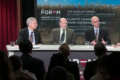 Panelists in a Harvard Chan School forum examined how the Paris climate agreement might affect human health.