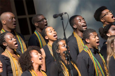 """Named for the Swahili word that means """"to create,"""" Kuumba dates to 1970, when a group of black undergraduate students formed on the backdrop of """"a time when things across campus, and the nation, were particularly difficult for people of color,"""" according to the group's president, LeShae Henderson '16."""