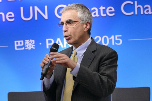 """After the Paris talks conclude, governments may have more appetite to reconsider the IPPC's role in light of a new global climate regime in place,"" said Kennedy School Professor Robert Stavins on Wednesday. On Thursday, Stavins answered questions during a U.N. Climate Change Summit side panel, ""Implementing Paris Agreement: Innovation of Development Path,"" at China Pavilion."