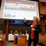 """Harvard Business School's Lynda M. Applegate moderated """"She Got Game,"""" a panel discussion about the challenges that women face in starting and growing large-scale businesses, and how they are learning to overcome them."""