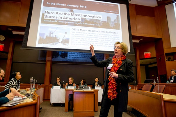 "Harvard Business School's Lynda M. Applegate moderated ""She Got Game,"" a panel discussion about the challenges that women face in starting and growing large-scale businesses, and how they are learning to overcome them."