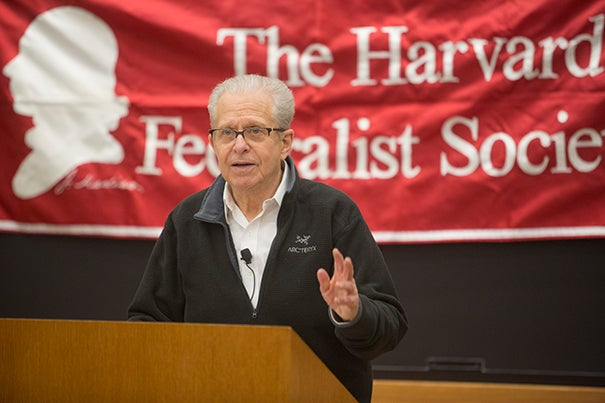 During a forum at Harvard Law School,  Laurence Tribe, the Carl M. Loeb University Professor and Professor of Constitutional Law, argued that Sen. Ted Cruz is ineligible to hold the presidency, using what he called Cruz's own strict interpretation of the Constitution.