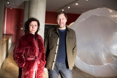 The  Carpenter Center installation was created by  Silvia Benedito, an assistant professor of landscape architecture at the Harvard Graduate School of Design,  and architect C. Alexander Häusler.