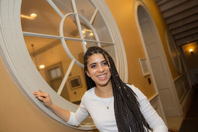 """""""The undergraduate minority recruitment program is about more than just recruiting students who may feel that selective colleges are not for them; it's also about continuing to mentor these students,"""" said Melia Henderson '19."""