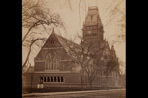 In its first century, the Harvard Alumni Association had a hand in improving and expanding the built environment: Memorial Hall  (pictured); the Tercentenary Theatre, and the class gates that gracefully ring Harvard Yard, to name a few.