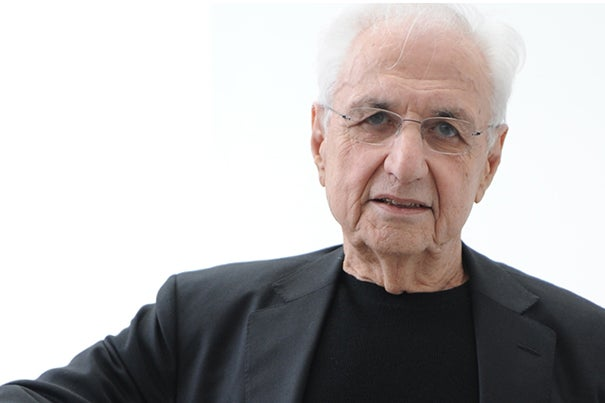 Architect Frank Gehry is the 23rd recipient of the Harvard Arts Medal, which honors a distinguished Harvard or Radcliffe graduate or faculty member who has achieved excellence in the arts and through them has made a contribution to education or the public good.
