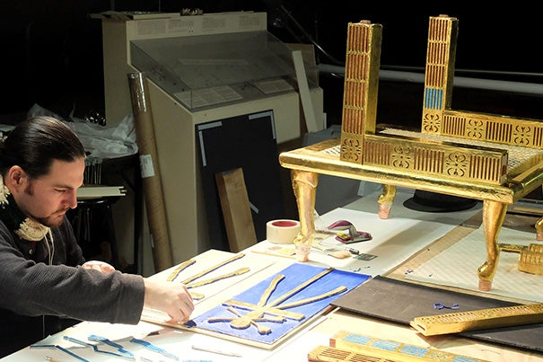 Technical artist David Hopkins helped reconstruct the chair, which involved more than 2,000 individual pieces.