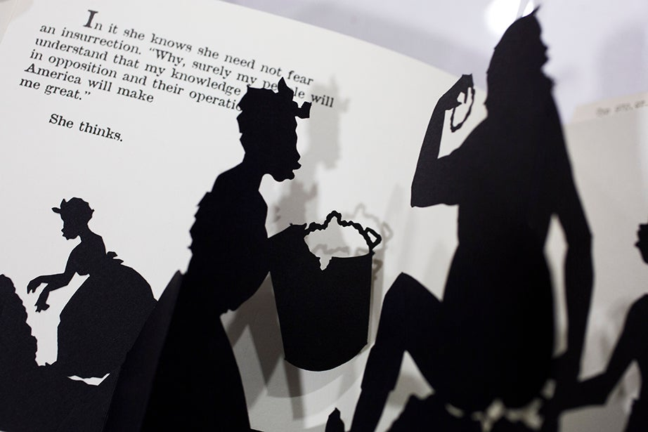 "Change in dimension can bring an element of theater when pages become a stage for pop-up characters, as seen in Kara Elizabeth Walker's 1989 tome, ""Freedom: A Fable."""