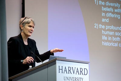 """Religious literacy is developing the ability to discern and analyze the fundamental intersections of religion and social, political, and cultural life,"" said Harvard Divinity School's Diane Moore, speaking at the Harvard Ed Portal."