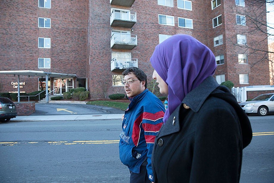 "Amanda Mozea's roommate Fatima Bishtawi is ""best buddies"" with one of Amy Richmond's housemates, Andrew Peyron (left)."