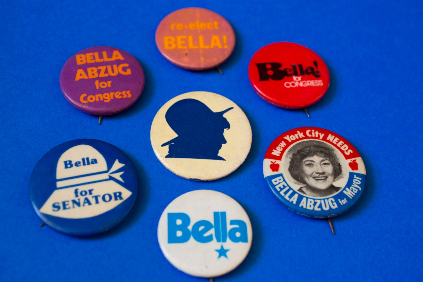 U.S. Rep. and social activist Bella Abzug, noted for her signature hats.