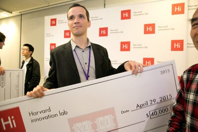 Tim Sanchez was among the grand prize winners at the 2015 Deans' Challenge. This year's winners will be announced at the conclusion of Demo Day on May 4.