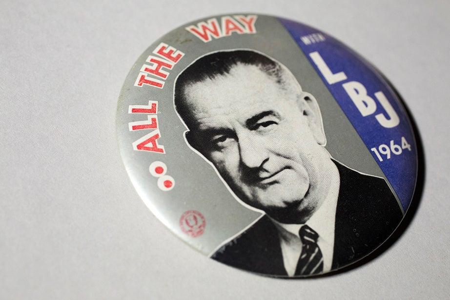 Lyndon B. Johnson 1964 campaign button.