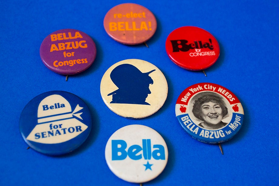 "U.S. Rep. and social activist Bella Abzug, noted for her signature hats, reminded those who admired them, ""It's what's under the hat that counts!"""
