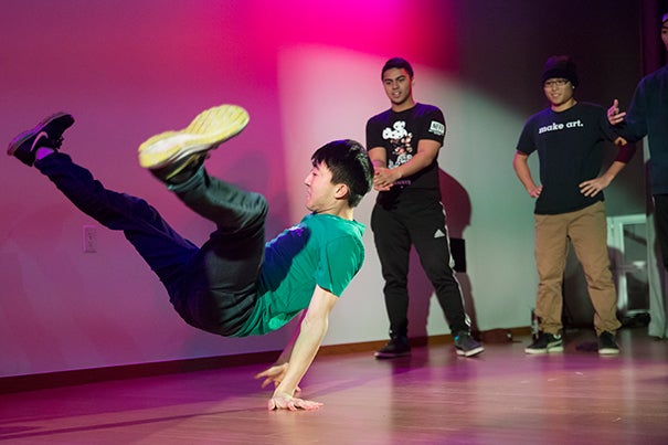 Harvard students like The Harvard Breakers  enthralled the audience  with fluid movements at the Ed Portal's Cultural Connections night.