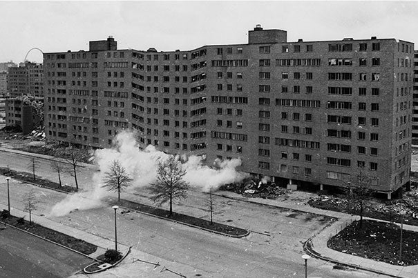 St. Louis' notorious Pruitt-Igoe housing project was demolished less than two decades after it was built. This week, the GSD hosts urban planners and others from St. Louis to discuss how such design failures marginalized African-Americans.