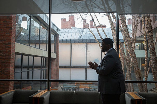 """Anthony Jack has focused his research on low-income students who struggle at elite colleges. """"Harvard gives me the opportunity to talk to the world on behalf of those students who entrusted me with their stories,"""" he said."""