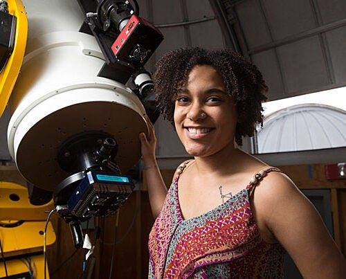 Moiya McTier '16, a dual concentrator in astrophysics and folklore and mythology, combined her interests by writing a science-fiction novel for her thesis.