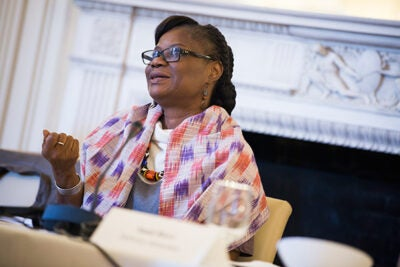 """Rosine Coulibaly, Burkina Faso's minister of economy, finance, and development, attended a workshop sponsored by the Ministerial Leadership in Health Program. Coulibaly said she found the discussion """"very useful."""""""