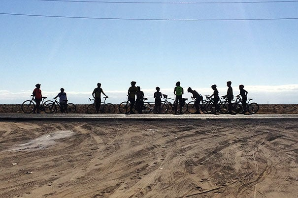 Michael Meo, a student at the Harvard Graduate School of Design, led 22 riders of all ages and abilities on a grueling 1,000-mile bicycle journey through the Mexican desert.