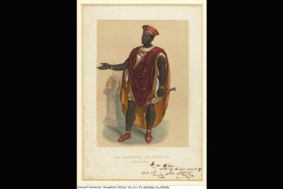 Ira Aldridge was the first black actor cast as Othello. Although he was extremely successful, it would take another century before another black man was cast in the role.