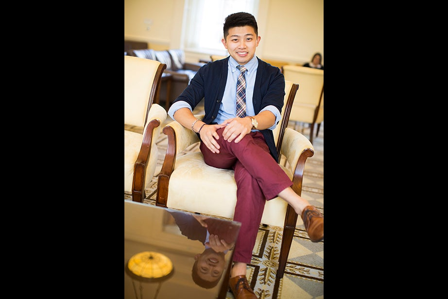 "Student Taniel Chan's favorite accessory is a watch his sister gave him for his birthday. ""If I leave my house without my watch, it kind of ruins my day a little bit."" Style philosophy: ""I like to be minimalistic when possible. I try to keep my outfits simple and clean. Something that doesn't stand out too much, but that people can still appreciate from afar."" Reading: ""What Money Can't Buy"" by Michael Sandel. ""My guilty pleasure is reading The Economist."""