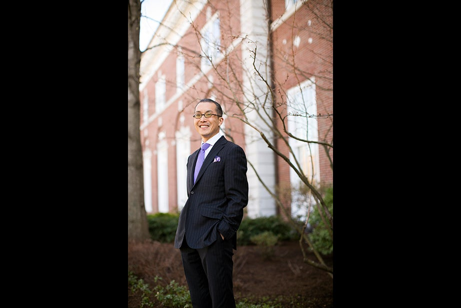 "Nien-he Hsieh, associate professor of business administration, says of his personal style, ""Simple, but not boring. With enough detail, but not fussy. Not conservative, but what I aspire to be is more classic."" Favorite item: ""Glasses. They become part of your face. I'm amazed at the idea of glasses. I'm fascinated both by the physics and optics and how it actually works."" Listening to: ""I love Bach. After having children and experiencing more emotion in my life, I appreciate Beethoven's emotionality. And I'm a big fan of early 1980s New Wave music."" Reading: Nick Bostrom's ""Superintelligence: Paths, Dangers, Strategies."""