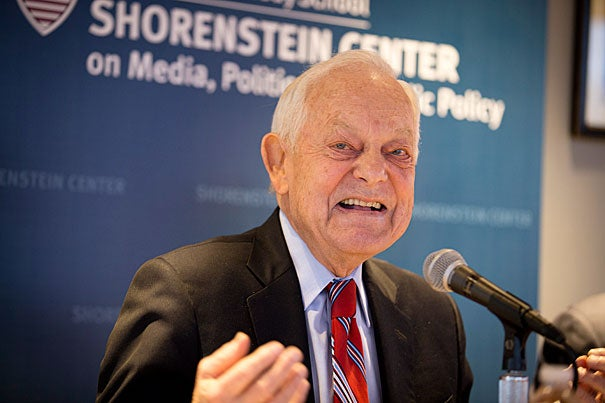 Schieffer was a Shorenstein Fellow at the Harvard Kennedy School this year. Rose Lincoln/Harvard Staff Photographer