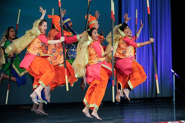 The annual Arts First festival featured many forms of art, including the Harvard Bhangra Dance Company as part of DanceFest.