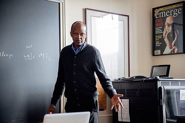 """Linguist John Mugane, professor of the practice of African languages and cultures, is the director of Harvard's African Language Program. """"The importance of Africa cannot be denied,"""" he said."""