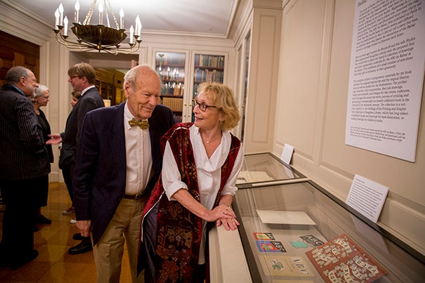 Laurent de Brunhoff, whose father, Jean, invented the Babar children's books, and his wife, Phyllis Rose, a 1964 graduate of Radcliffe, have donated the original Jean de Brunhoff work to Houghton Library.