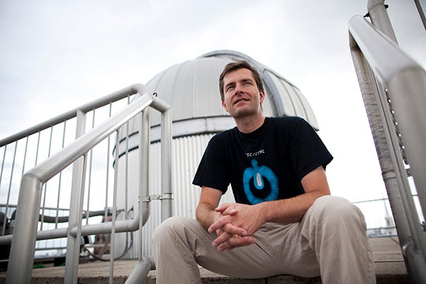 David Charbonneau, professor of astronomy, has been awarded a Blavatnik award for his numerous pioneering discoveries of exoplanets, most notably his discovery of an Earth-like planet orbiting a nearby star, considered the best possible target for future exploration with the world's most powerful observatories.