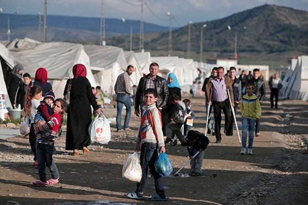A camp in southeastern Turkey, which is among the nations hosting the largest populations of Syrian refugees.