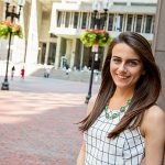 Jackie Lender '16 is the first recipient of the Harvard Presidential City of Boston Fellowship, which supports public service opportunities.
