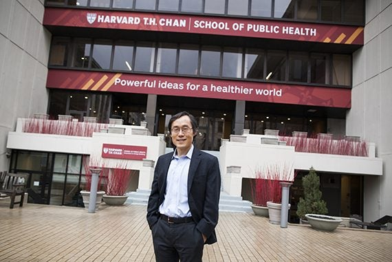 Senior author on the study Professor Frank Hu, outside Kresge Building at Harvard Chan School. Stephanie Mitchell/Harvard Staff Photographer