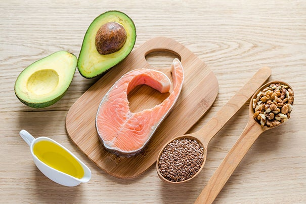 Replacing animal fats with fish and plant oils, which contain polyunsaturated fats like omega-3 and omega-6, are associated with lower risk of premature death.