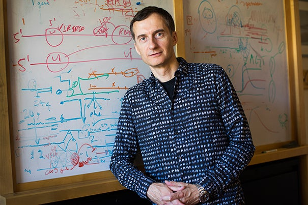 Alex Schier is the author of a recent study on the use of CRISPR to mark cells with a genetic barcode that can be used to track the development of cells and reconstruct their lineages.