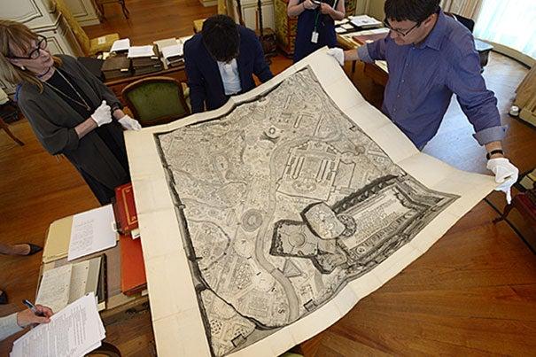 """Giovanni Battista Piranesi's """"Campus Marius antiquae Urbis"""" features extraordinary cartography of ancient Rome."""